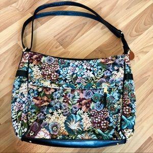 SAS Handsewn Floral Tapestry Handbag
